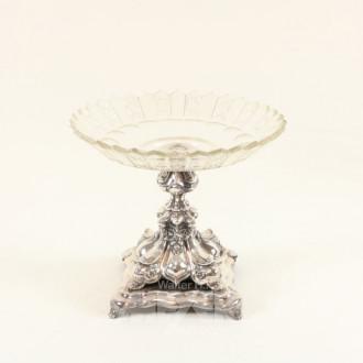 Tischaufsatz, um 1900 mit Glasschale
