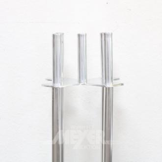 gr. Standleuchter, Metall, 5-flammig