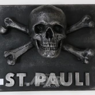 Wand-Plakette, ''St. Pauli'', Gips,