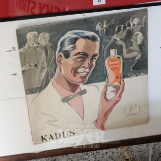 Werbe-Bild ''KADUS'', auf Pappe,
