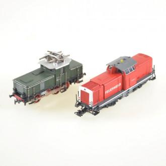 4 versch. Loks (1 x E-Lok, 3 x Diesel)
