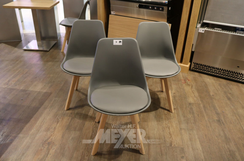 30 graue Bistro-Kunststoffstühle WOLTU