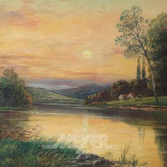 Gemälde ''Abendliche Stimmung am See''