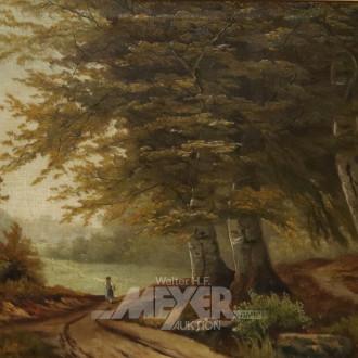 Gemälde ''Waldlandschaft mit Staffage''