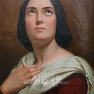 Gemälde ''Nach oben blickende Dame''