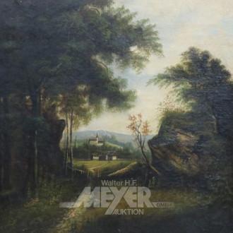 Gemälde ''Romantische Waldlandschaft