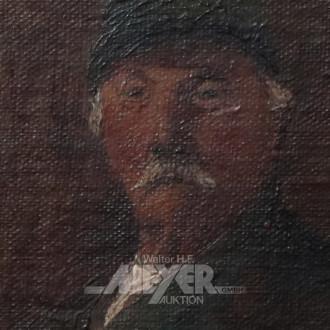 kl. Gemälde ''Mann mit Bart''