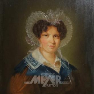 Gemälde ''Brustbild einer Dame