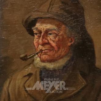 kl. Gemälde ''Helgoländer Fischer''