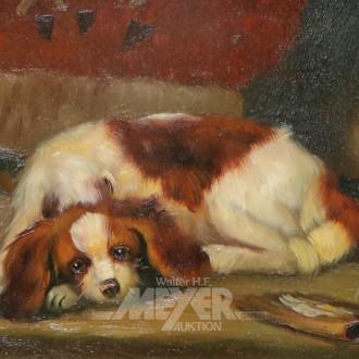 kl. Gemälde ''Hund''