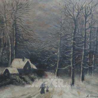 Gemälde ''Winterliche Abendlandschaft''