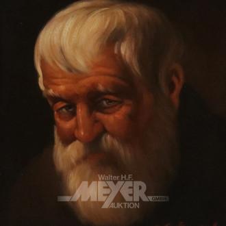 Gemälde ''Portrait, bärtiger Mann''