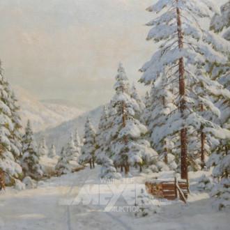 Gemälde ''Winterliche Waldlandschaft''