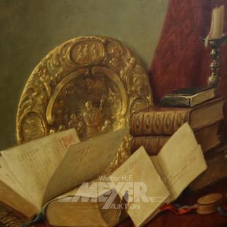 Gemälde ''Stillleben mit Büchern''