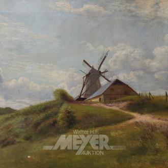 Gemälde ''Landschaft mit Windmühle''