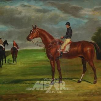 Gemälde ''Jockey auf Pferd''