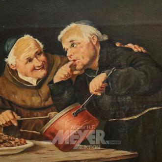 Gemälde ''Mönche beim Kochen''