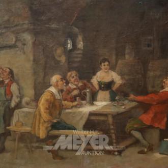 Gemälde ''Wirtshausszene''