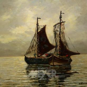 Gemälde ''Fischerboote''