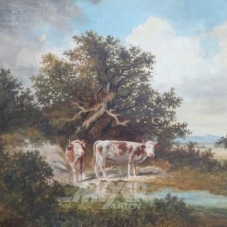 Gemälde ''Kühe am Bach''