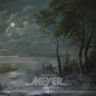 Gemälde ''Vollmond über dem Fjord''