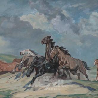 Gemälde ''Galoppierende Pferde''