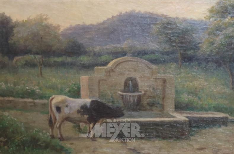 Gemälde ''Kuh am Brunnen''