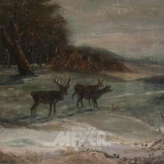Gemälde ''Winterliche Landschaft mit