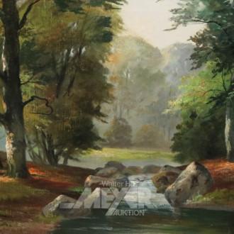 Gemälde ''Waldlandschaft mit Bachlauf''