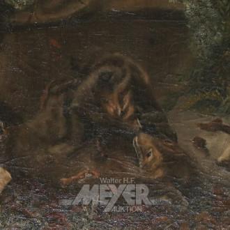 Gemälde ''Kämpfende Hunde''