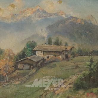 kl. Gemälde ''Bergalm''