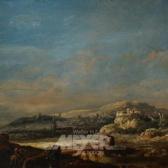 kl. Gemälde ''Romantische Landschaft''