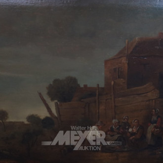 Gemälde ''Bauern vor dem Stall''