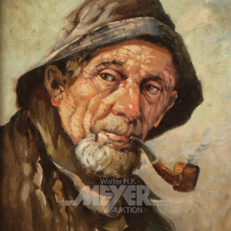 Gemälde ''Portrait eines Fischers
