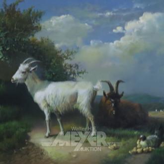 Gemälde, neuzeitlich ''Ziegen''