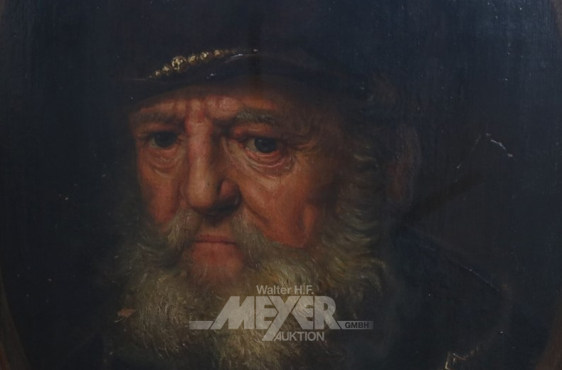 Gemälde ''Mann mit Barett und Goldkette''