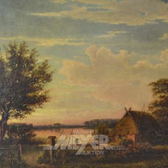 Gemälde, ''Kopfweide am See''