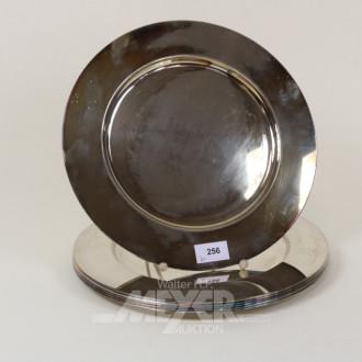 6 Platzteller, 800er Silber