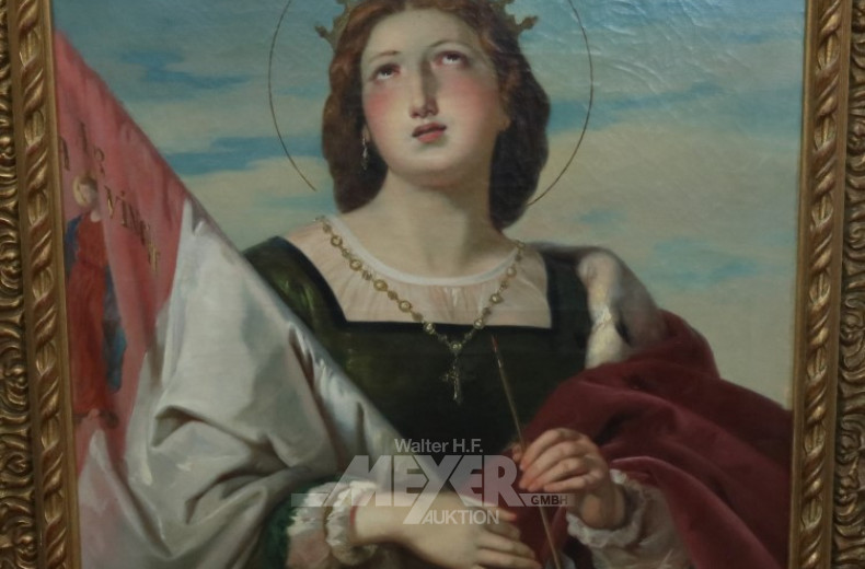 Gemälde ''Portrait einer Heiligen mit