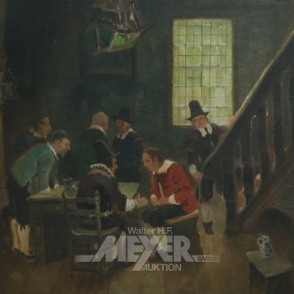 Gemälde ''Hanseatische Kaufmannsleute''