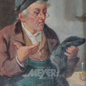Paar kl. Gemälde ''Herrenportraits -