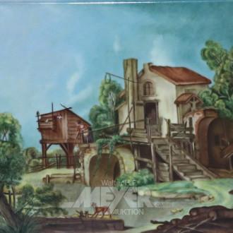 Gemälde ''Kl. Gehöft''