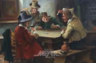 Gemälde ''Kartenspieler''