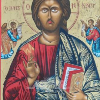 Ikone ''Christus Pantokrator'', Porzellan