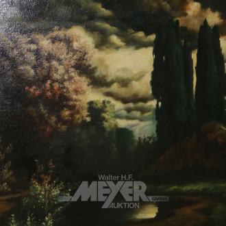 Gemälde ''Abendstimmung im Park''