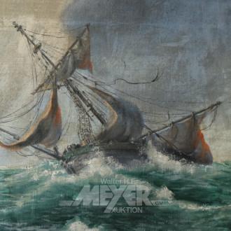 Gemälde ''Schiffbruch auf hoher See''