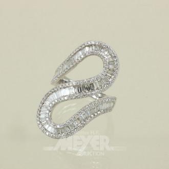 Damenring, 750er WG, schlangenförmig