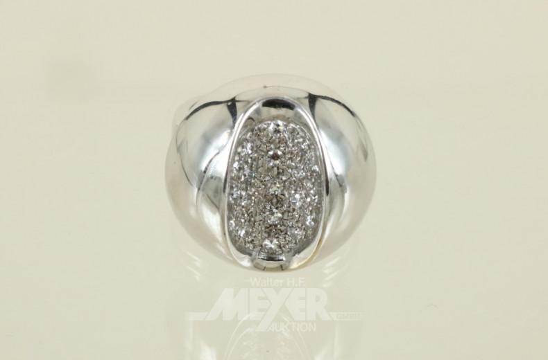 Designer-Ring, 750er WG, sign. Krauss