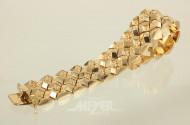 Armband, 750er GG, ca. 43 g.