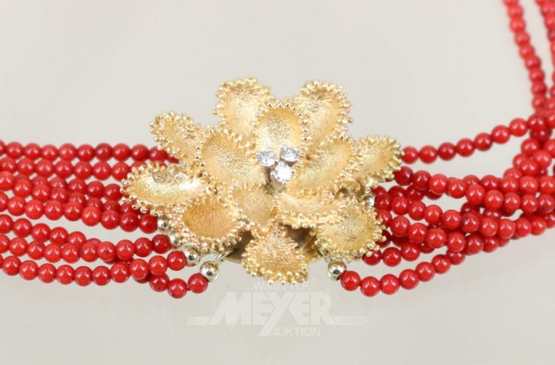 Korallen-Collier, 7-reihig,